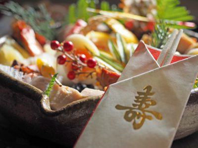 お節料理で、食べる意味クイズ。縁起をかつぐ黒豆、ごまめ、にらみ鯛、関西の棒鱈。