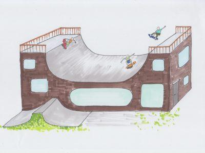 スケボー、スケートが大好きな人のためのワクワク住宅を考えてみました