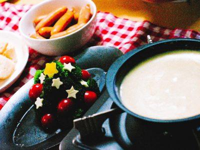 クリスマスパーティの盛り付け料理で、子どもも大人も楽しく♪