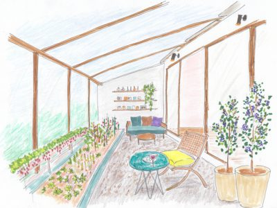 室内でトマトやイチゴを作れる家庭菜園のあるワクワク住宅